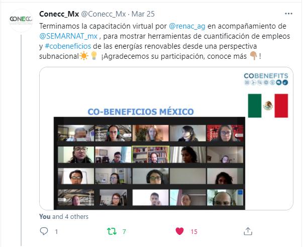 CO-BENEFICIOS México vía Twitter.