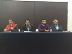 María Zorrilla (Gutachterin, GIZ), Fernando Camacho (CONANP), José Alberto Lara (UIA) und Waldo Ojeda (IMTA)