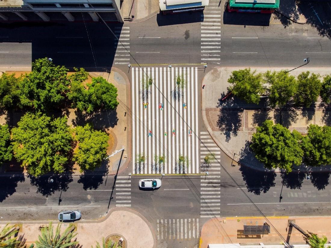 Foto: Intervención en zona peatonal, Hermosillo ©Colectivo Ciclista Bukis a la Calle