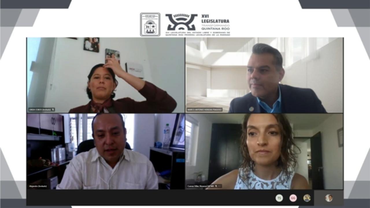 ©Foto: Congreso del Estado de Quintana Roo. Conversatorio virtual sobre cambio climático